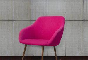 Pinker Stuhl